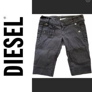 DIESEL edgy grey cotton bermuda jean shorts sz 26